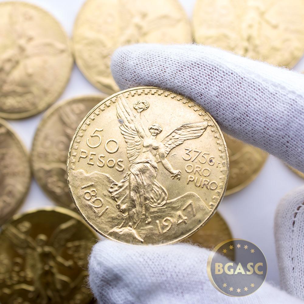 Mexico Gold 50 Pesos Centenario AGW 1 2057 oz - Circulated (Random Year)