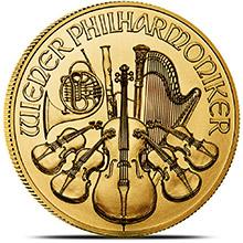 2017 1 oz Austrian Gold Philharmonic Bullion, Brilliant Uncirculated .9999 Fine 24kt Gold