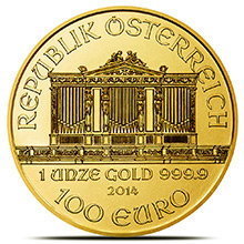 1 oz Austrian Gold Philharmonic Coin Brilliant Uncirculated .9999 Fine 24kt (Random Year)