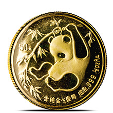 1/2 oz 1985 Chinese Gold Panda Coin 50 Yuan Brilliant Uncirculated (Mint Sealed)