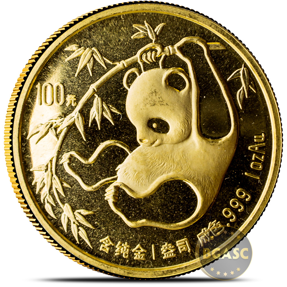 Buy 1 Oz 1985 Chinese Gold Panda Coin 100 Yuan Brilliant