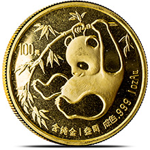 1 oz 1985 Chinese Gold Panda Coin 100 Yuan Brilliant Uncirculated (Mint Sealed)