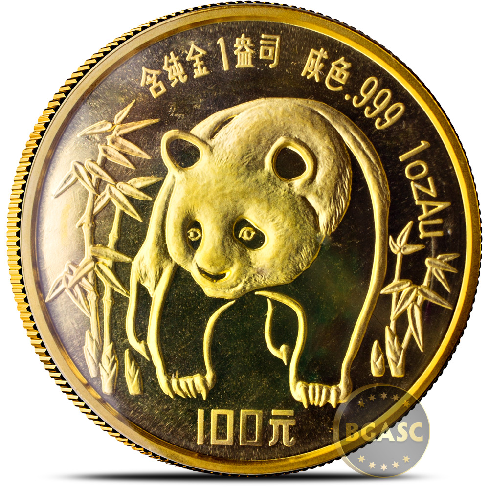 Buy 1 Oz 1986 Chinese Gold Panda Coin 100 Yuan Brilliant Uncirculated Mint Sealed Chinese