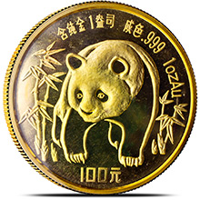1 oz 1986 Chinese Gold Panda Coin 100 Yuan Brilliant Uncirculated (Mint Sealed)