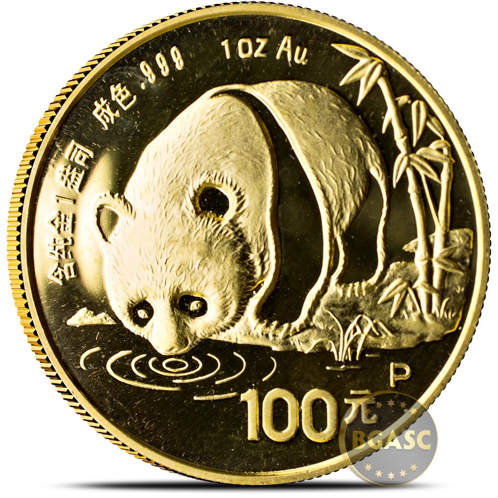 1987 Chinese Gold Panda Coin 100 Yuan