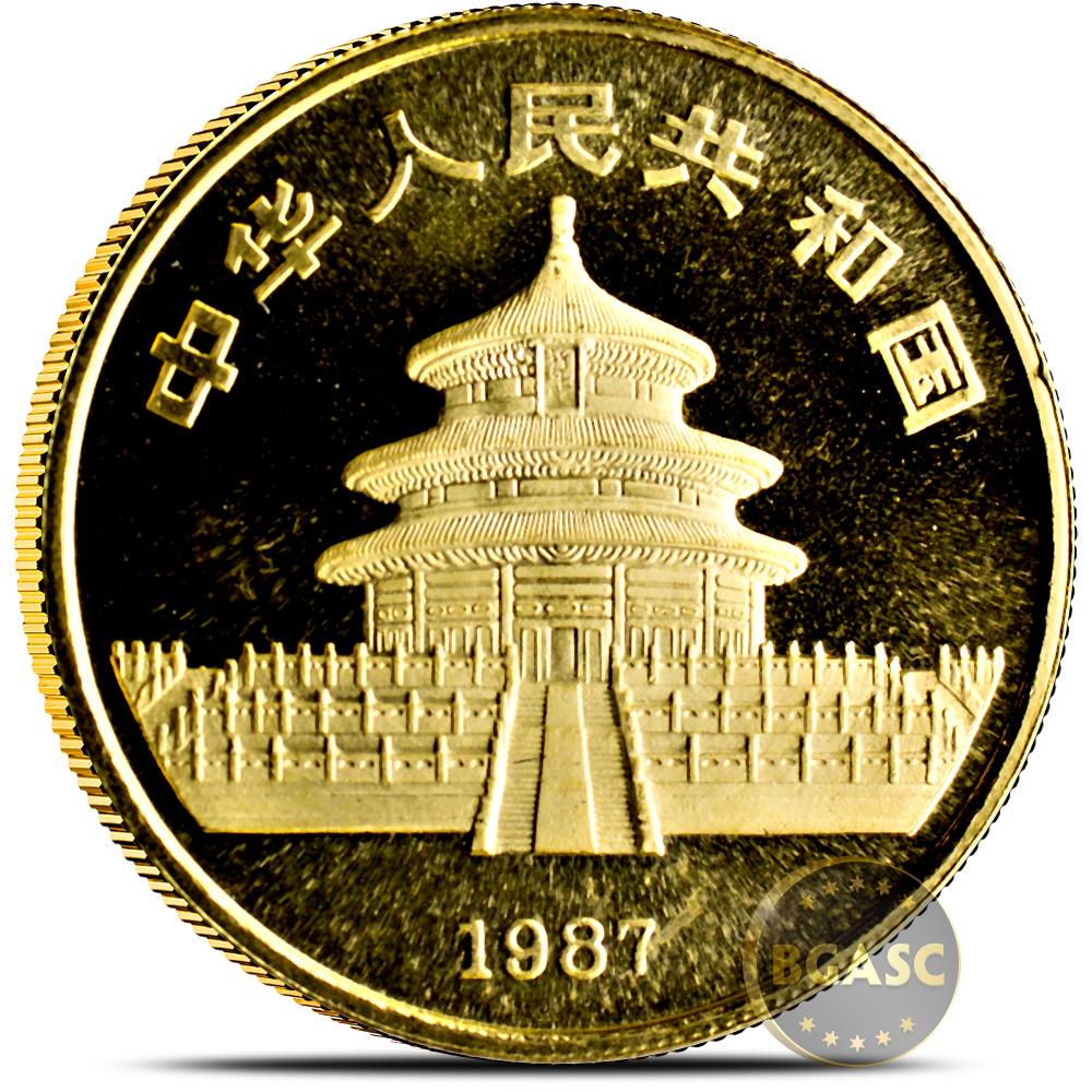 China 1987S Gold 1//10 oz Panda 10 Yuan Original Mint Sealed BU