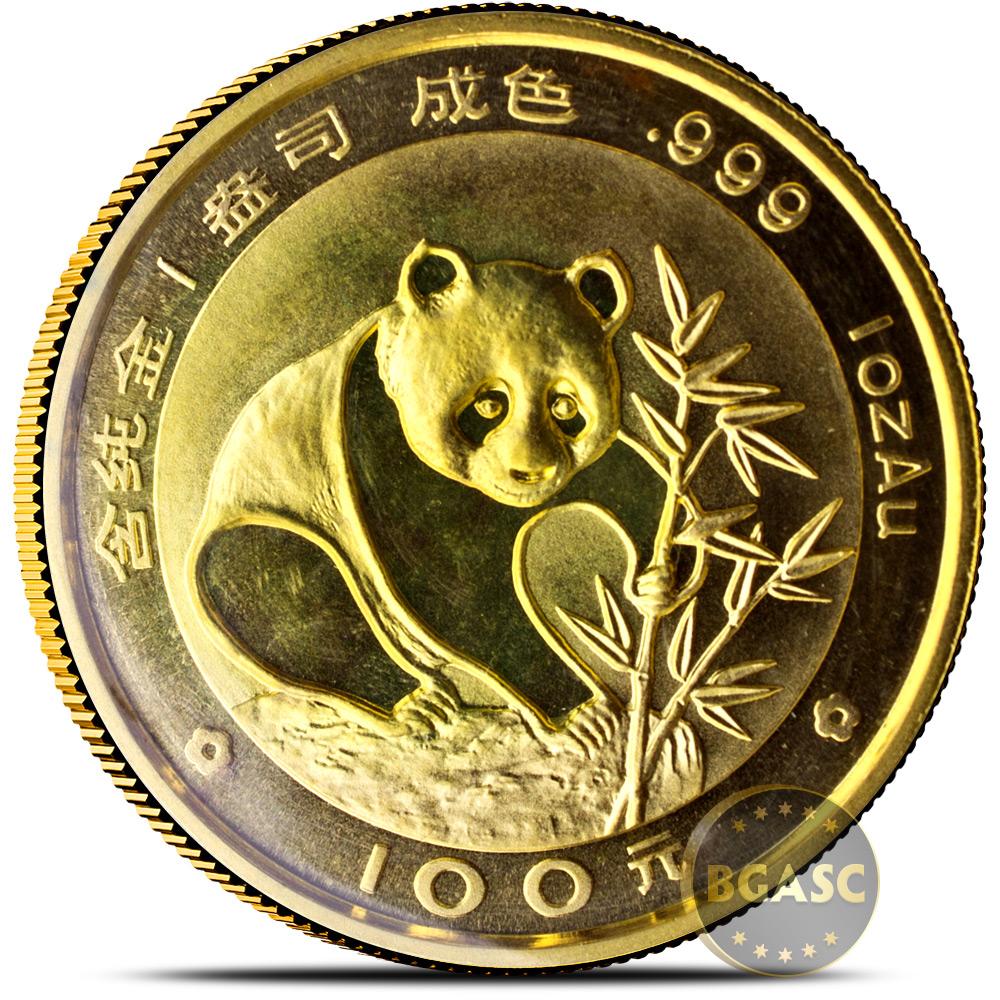 Buy 1 Oz 1988 Chinese Gold Panda Coin 100 Yuan Brilliant