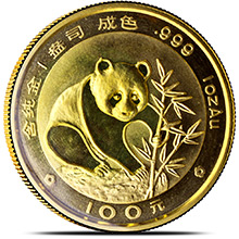 1 oz 1988 Chinese Gold Panda Coin 100 Yuan Brilliant Uncirculated (Mint Sealed)