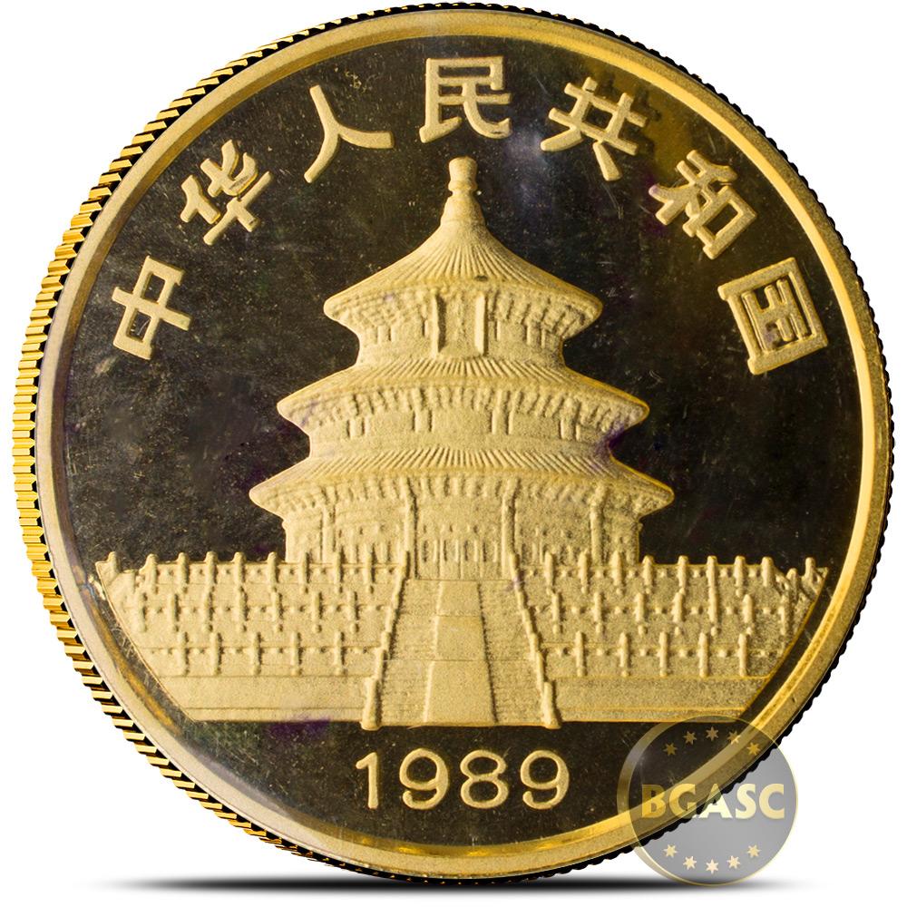 Buy 1 Oz 1989 Chinese Gold Panda Coin 100 Yuan Brilliant