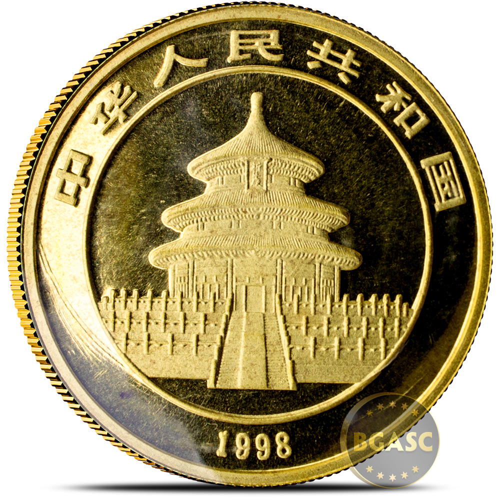 Buy 1 Oz 1998 Chinese Gold Panda Coin 100 Yuan Brilliant Uncirculated Small Date Mint Sealed