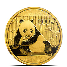 1/2 oz 2015 Chinese Gold Panda Coin 200 Yuan Brilliant Uncirculated