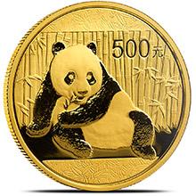 1 oz 2015 Chinese Gold Panda Coin 500 Yuan Brilliant Uncirculated