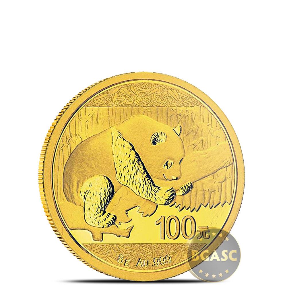 Buy 8 Gram 2016 Chinese Gold Panda Coin 100 Yuan Brilliant