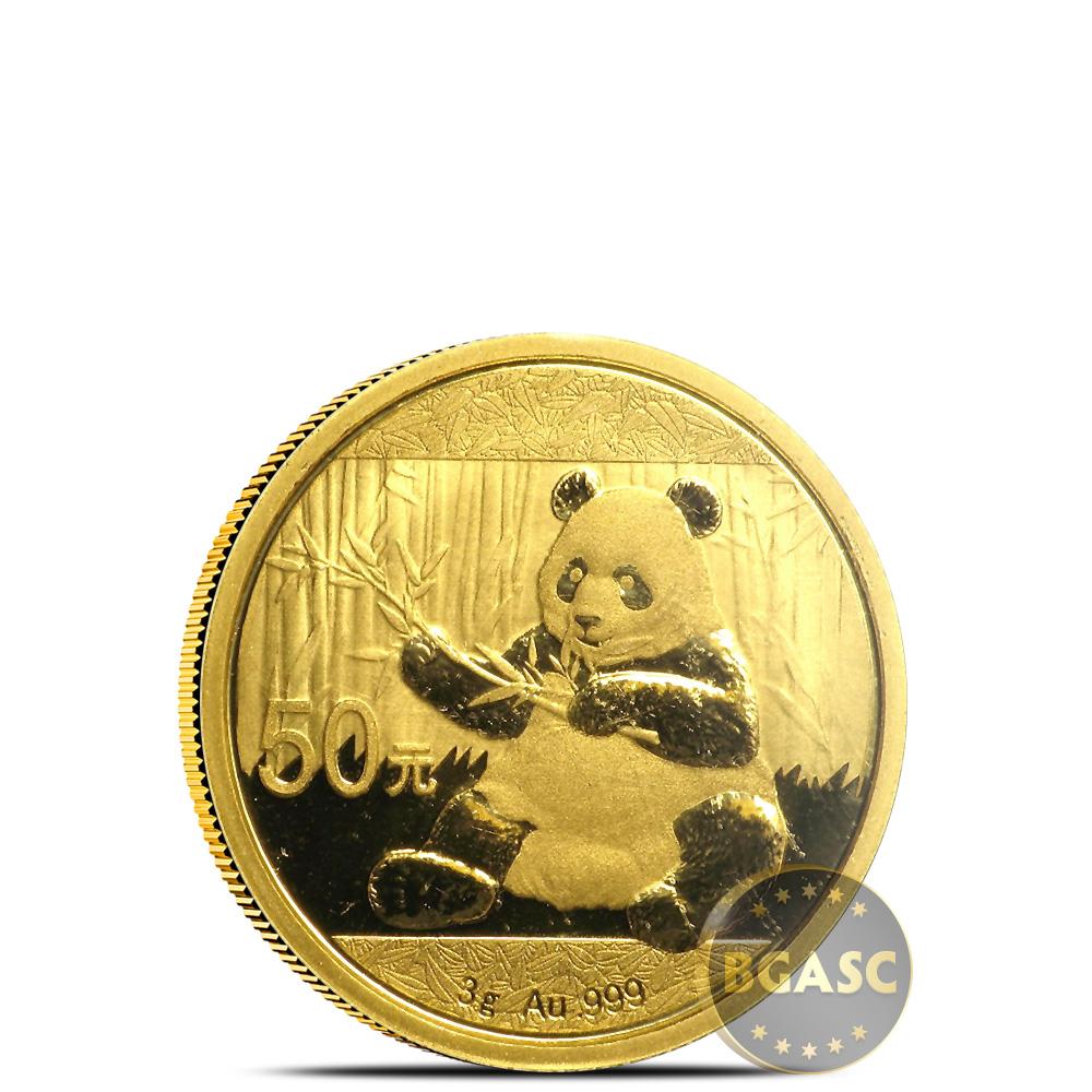 Buy 3 Gram 2017 Chinese Gold Panda Coin 50 Yuan Brilliant