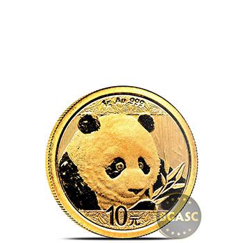 1 gram 2018 Chinese Gold Panda Coin 10 Yuan Brilliant Uncirculated