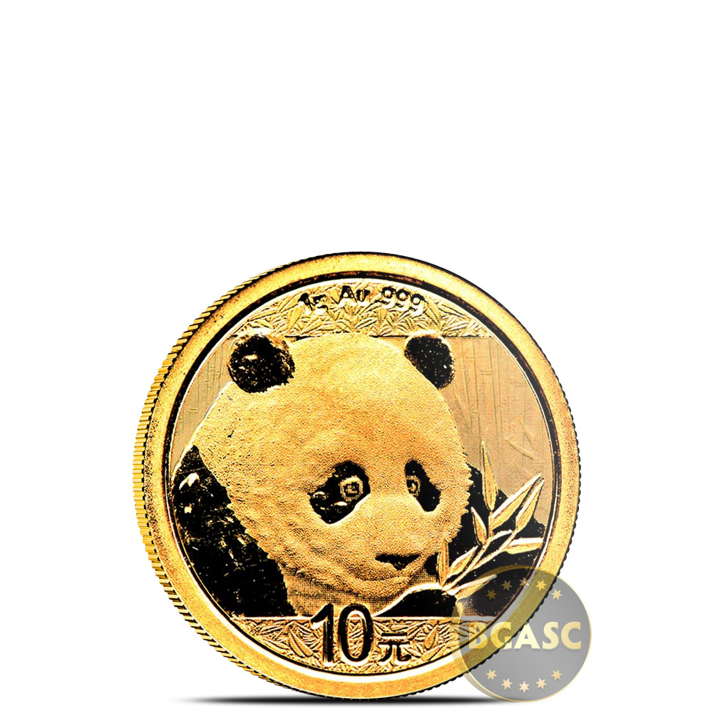 Buy 1 Gram 2018 Chinese Gold Panda Coin 10 Yuan Brilliant