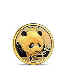 1 gram 2018 Chinese Gold Panda Coin 10 Yuan Brilliant Uncirculated