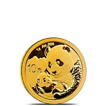 1 gram 2019 Chinese Gold Panda Coin 10 Yuan Brilliant Uncirculated