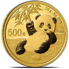 30 gram 2020 Chinese Gold Panda Coin 500 Yuan Brilliant Uncirculated