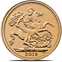 2019 Great Britain Gold Sovereign Coin BU