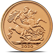 2020 Great Britain Gold Sovereign Coin BU
