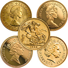 Great Britain Gold Sovereign Coin Queen Elizabeth II - Circulated (Random Year 1957-Current)