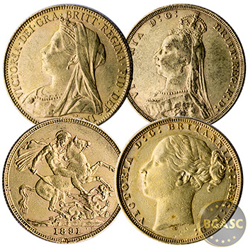 Great Britain Gold Sovereign Coin Queen Victoria - Circulated (Random Year 1871-1901)