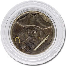 Lee Griffiths Hobo Nickel Carved On A Mint State 1913 Buffalo Nickel - Captain Hook