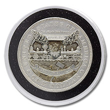 Lee Griffiths Hobo Nickel Carved On A Mint State 1878 Morgan Silver Dollar - Golden Spike