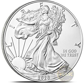 2020S San Francisco American Silver Eagle NGC Certified BU Roll