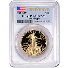 2015-W 1 oz Proof American Gold Eagle $50 Coin PCGS PR70 First Strike