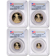 2015-W Proof American Gold Eagle 4-Coin Set PCGS PR69 First Strike (Mint Box & COA Included)