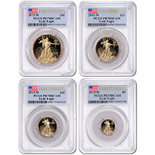 2015-W Proof American Gold Eagle 4-Coin Set PCGS PR70 First Strike (Mint Box & COA Included)