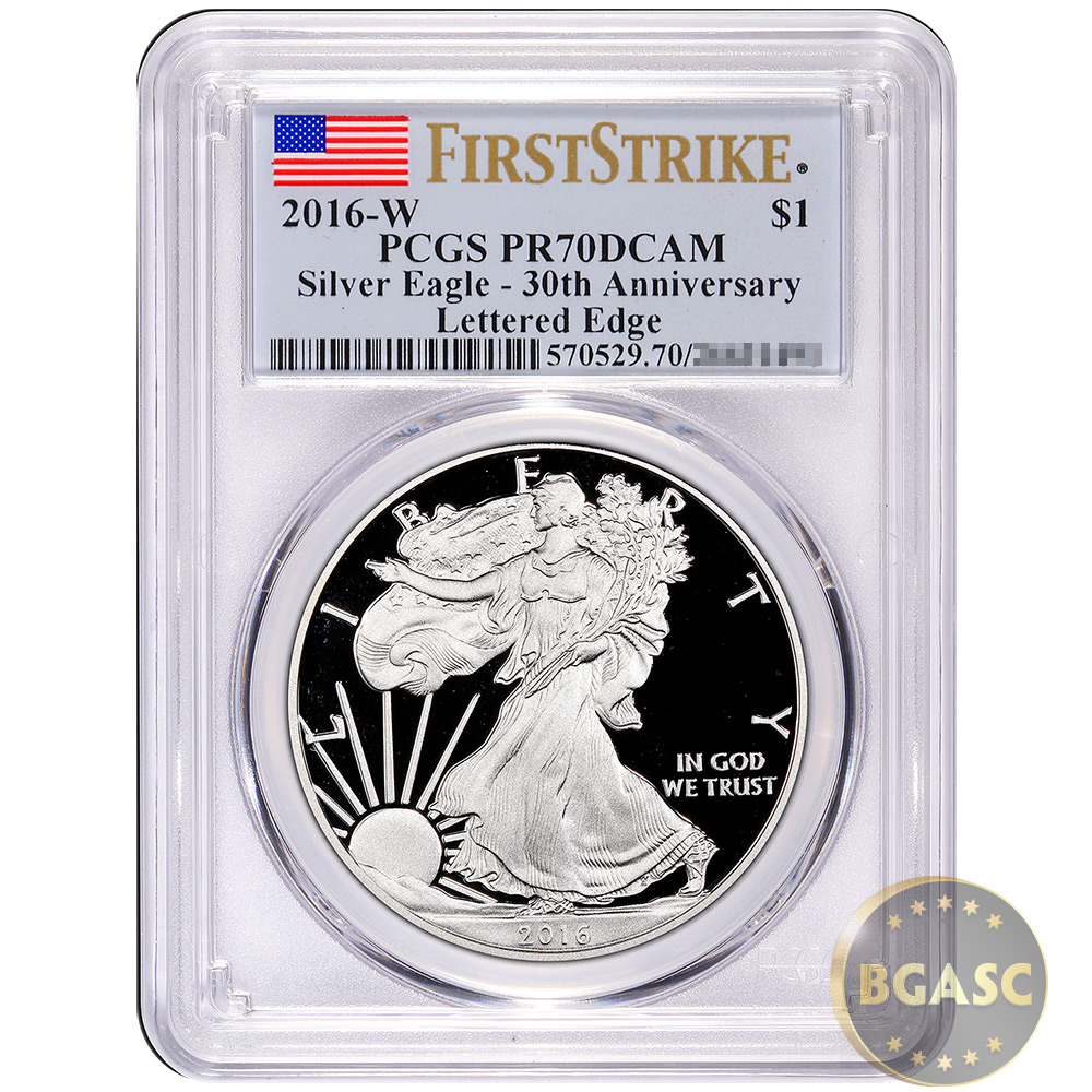 Buy 2016 W 1 Oz Proof Silver American Eagle Pcgs Certified