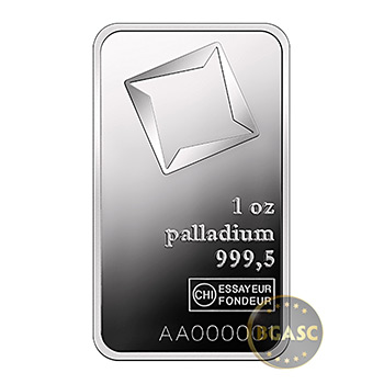 1 oz Palladium Bullion Bar Valcambi .9995 Fine Mint Sealed (in Assay)