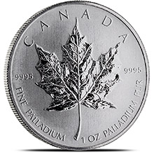 Canadian 1 oz Palladium Maple Leaf BU .9995 Fine (Random Year)