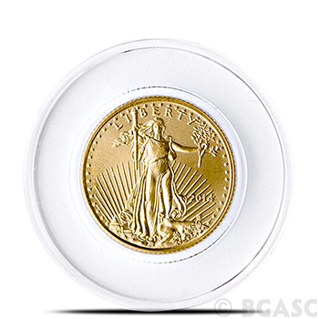 Air-Tite A16 Direct Fit Coin Capsule for 1/10th oz Gold Eagle - Image