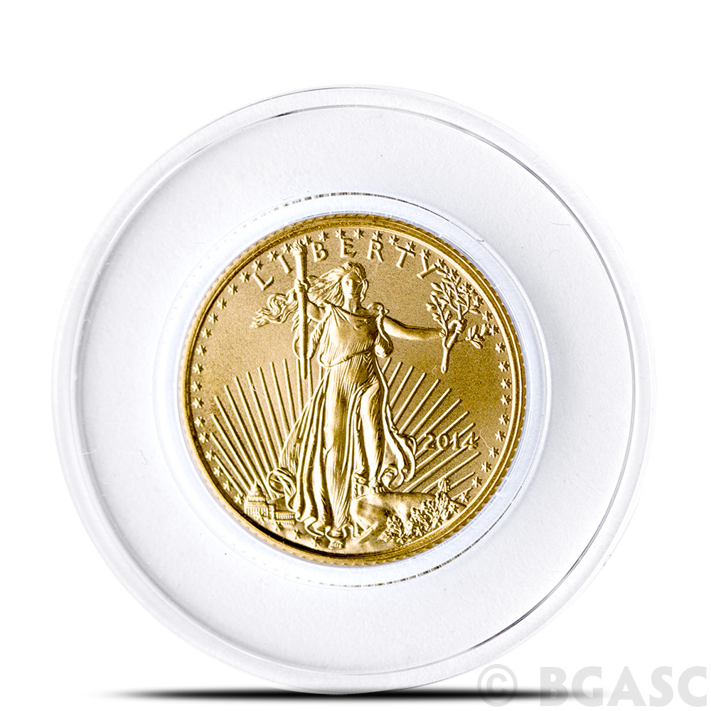 PLATINUM 50 AIRTITE COIN HOLDER CAPSULE DIRECT FIT A16 1//10 OZ GOLD