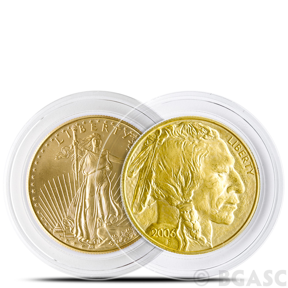 Gold American Eagle ~12 Direct Fit 35mm Coin Capsule For US 1 oz
