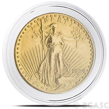 Coin Capsules for Pre-1933 $20 US Gold Liberty & St Gaudens - Air-Tite H34 Direct Fit 34mm - Image