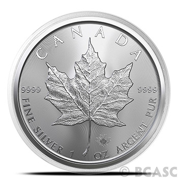 38mm Coin Capsules for 1 oz Silver Canadian Maple Leaf Coins - Air-Tite H5ML - Image