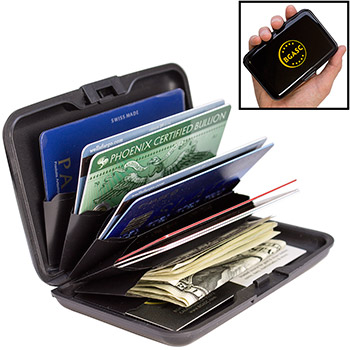 RFID Blocking Wallet / Assay Card Storage Case - Black Aluminum