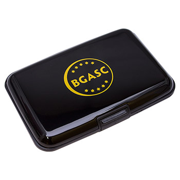RFID Blocking Wallet Assay Card Storage Case - Black Aluminum - Image