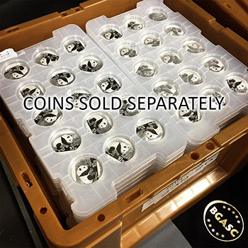 Empty Chinese Silver Panda 15-Coin Tray CGCI - Image
