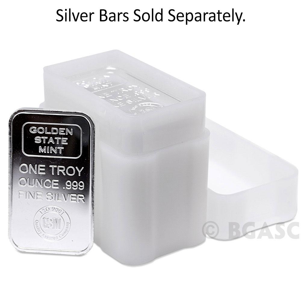 Holds 20 Bars! 1 CoinSafe 1-Oz Silver Bar Storage Tube