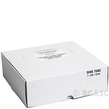 Bulk Dime Coin Tubes 10 Cent - CoinSafe 18.1mm T-DIM-50100 - 100 Count Display Box - Image