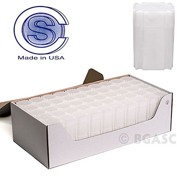 Bulk Silver Dollar Coin Tubes - CoinSafe 38mm T-DOL-20100 - 100 Count Display Box - Image