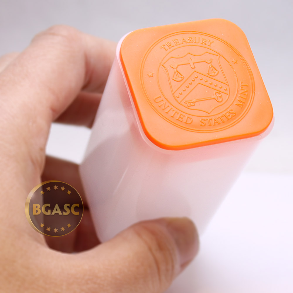 Empty 1 oz Gold American Buffalo Coin Tube Orange Top // Lid 1