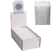 Bulk Half Dollar Coin Tubes (50 Cent) - CoinSafe 32.1mm T-HAF-20100 - 100 Count Display Box