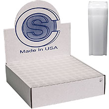 Bulk Quarter Coin Tubes (25 Cent) - CoinSafe 25.5mm T-QTR-40100L - 100 Count Display Box